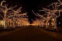 Подключение освещения зданий в Мысках