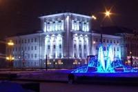 освещение фасадов в Мысках